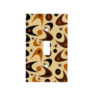 Customizable Retro Boomerangs Light Switch Cover