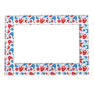 Customizable Retro Boomerangs Magnetic Photo Frame