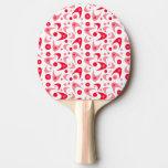 Customizable Retro Boomerangs Ping Pong Paddle