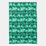 Customizable Retro Boomerangs & Starbursts Towels