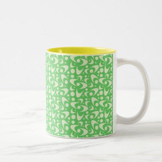 Customizable Retro Boomerangs Two-Tone Coffee Mug