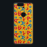 """Customizable Retro Boomerangs Wood Nexus 6P Case<br><div class=""""desc"""">Retro boomerangs phone case.  Background color and style can be customized.</div>"""
