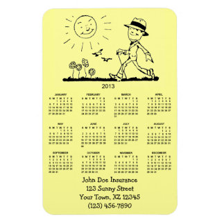 Customizable Retro Business Man 2013 Calendar