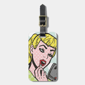 Customizable Retro Comic Book Cutie Luggage Tag