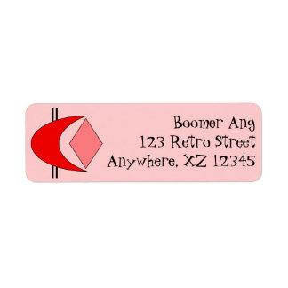 Customizable Retro Custom Return Address Labels