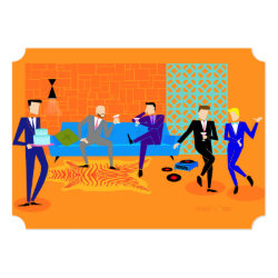 Customizable Retro Gay Party Invitations