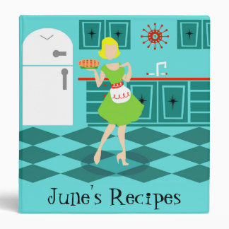 Customizable Retro Kitchen Binder