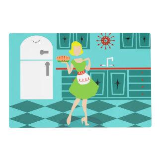 Customizable Retro Kitchen Laminated Placemat