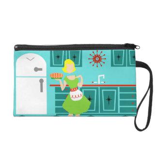 Customizable Retro Kitchen Wristlet