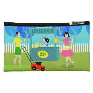 Customizable Retro Lemonade Stand Cosmetic Bag