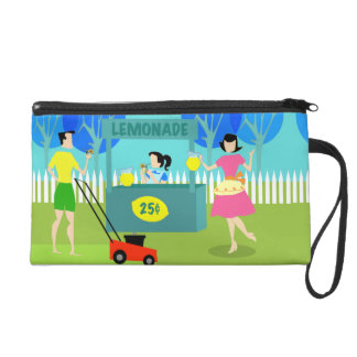 Customizable Retro Lemonade Stand Wristlet