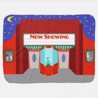 Customizable Retro Movie Theater Baby Blanket