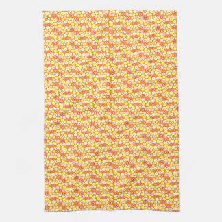 Customizable Retro Ovals Kitchen Towels