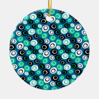 Customizable Retro Ovals Christmas Ornament