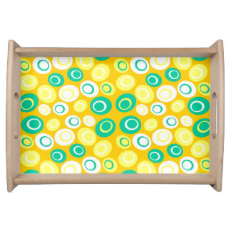 Customizable Retro Ovals Serving Tray