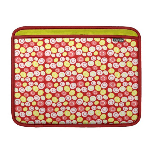 Customizable Retro Ovals Sleeves For MacBook Air