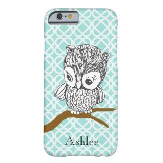 Customizable Retro Owl iPhone 5 Case iPhone 6 Case