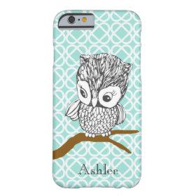 Customizable Retro Owl iPhone 6 case