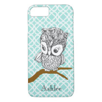 Customizable Retro Owl iPhone 7 case