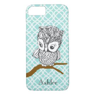 Customizable Retro Owl iPhone 7 case