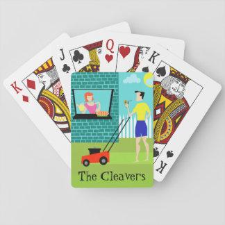 Customizable Retro Saturday Morning Playing Cards