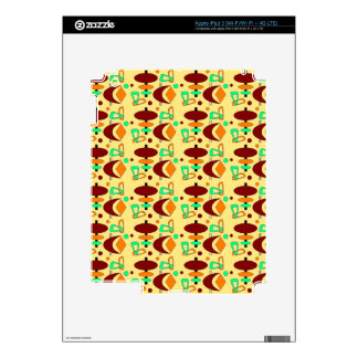 Customizable Retro Shapes iPad 3 Decals