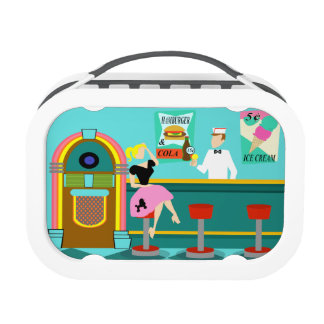Customizable Retro Soda Fountain Lunch Box
