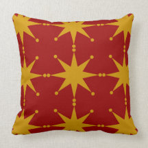 Customizable Retro Stars Pillows