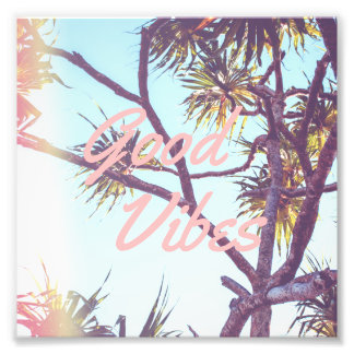Customizable Retro Tropical Tree | Photo Print