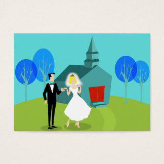 Customizable Retro Wedding Planner Business Card