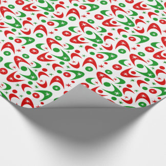 Customizable Retro Xmas Boomerangs Gift Wrap