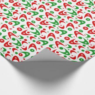 Customizable Retro Xmas Boomerangs Wrapping Paper
