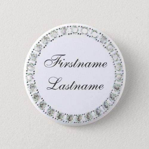 Customizable rhinestones white button
