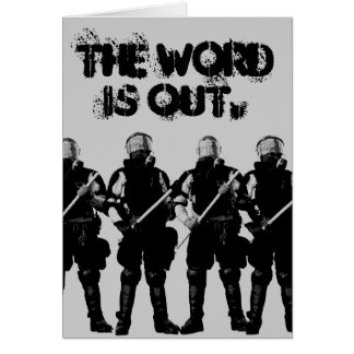 Customizable Riot Cop Card