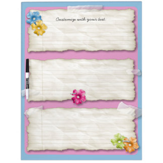 Customizable ripped paper hawaii dry erase board