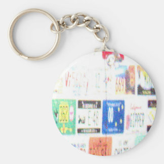 Customizable Road Trip Basic Round Button Keychain