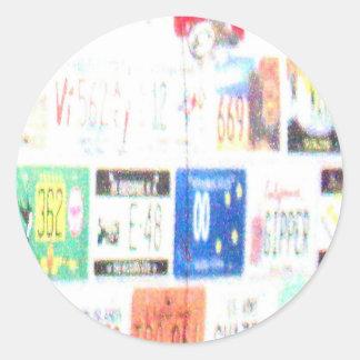Customizable Road Trip Classic Round Sticker