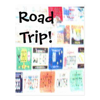 Customizable Road Trip Postcard