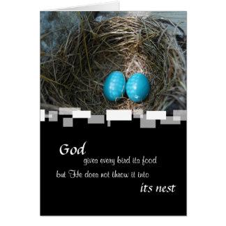 Customizable Robin Nest Fathers Day Card