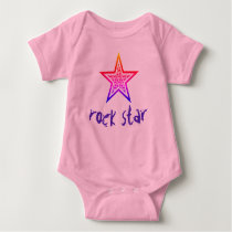 "Customizable ""Rock Star"" Baby Bodysuit"