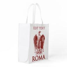 Customizable Roman Aquila Grocery Bag