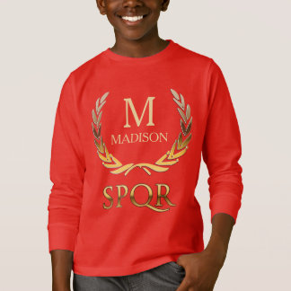 Customizable Roman Laurel Wreath Monogram T-Shirt