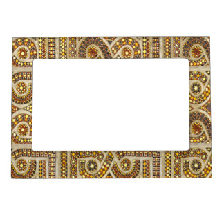 Customizable Romanesque Pattern Magnetic Photo Frame