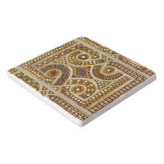 Customizable Romanesque Pattern Trivet