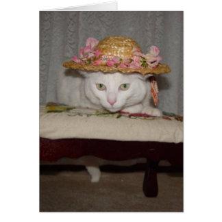 Customizable Romantic Cats Card