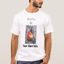 Customizable Rooster T-Shirts