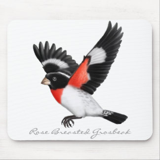 Customizable Rose Breasted Grosbeak Bird Mousepad