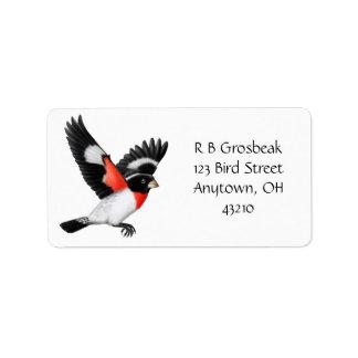 Customizable Rose Breated Grosbeak Avery Label Address Label