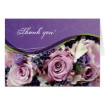 Customizable rose & lavender greeting card