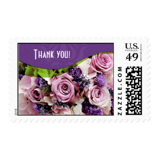 Customizable rose & lavender postage